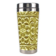 Gold Plated Ornament Stainless Steel Travel Tumbler