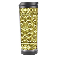 Gold Plated Ornament Travel Tumbler