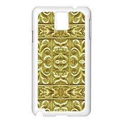 Gold Plated Ornament Samsung Galaxy Note 3 N9005 Case (White)