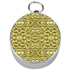 Gold Plated Ornament Silver Compass