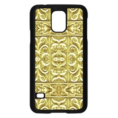 Gold Plated Ornament Samsung Galaxy S5 Case (Black)