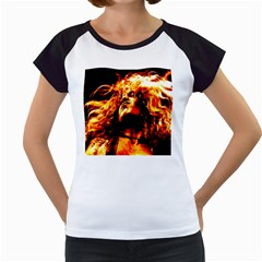 Golden God Women s Cap Sleeve T-Shirt (White)