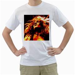 Golden God Men s Two-sided T-shirt (White)