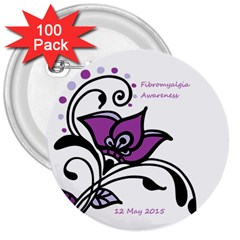 2015 Awareness Day 3  Button (100 Pack)