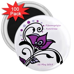 2015 Awareness Day 3  Button Magnet (100 Pack)