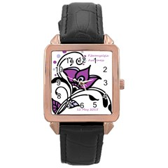 2015 Awareness Day Rose Gold Leather Watch