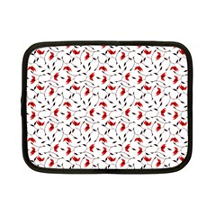 Delicate Red Flower Pattern Netbook Sleeve (small)