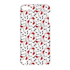 Delicate Red Flower Pattern Apple Ipod Touch 5 Hardshell Case