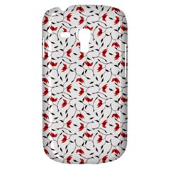 Delicate Red Flower Pattern Samsung Galaxy S3 Mini I8190 Hardshell Case