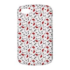 Delicate Red Flower Pattern BlackBerry Q10 Hardshell Case