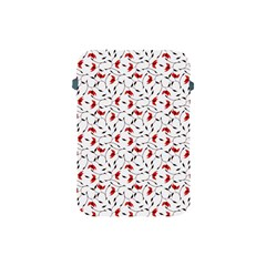 Delicate Red Flower Pattern Apple Ipad Mini Protective Sleeve