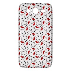 Delicate Red Flower Pattern Samsung Galaxy Mega 5 8 I9152 Hardshell Case
