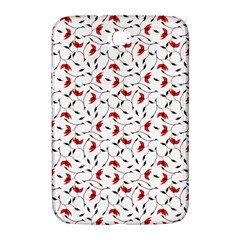 Delicate Red Flower Pattern Samsung Galaxy Note 8.0 N5100 Hardshell Case