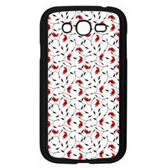 Delicate Red Flower Pattern Samsung Galaxy Grand Duos I9082 Case (black)