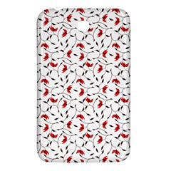 Delicate Red Flower Pattern Samsung Galaxy Tab 3 (7 ) P3200 Hardshell Case