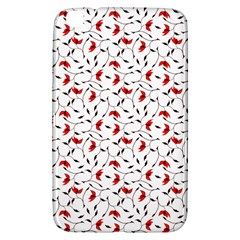 Delicate Red Flower Pattern Samsung Galaxy Tab 3 (8 ) T3100 Hardshell Case