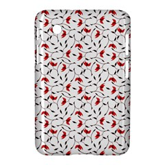 Delicate Red Flower Pattern Samsung Galaxy Tab 2 (7 ) P3100 Hardshell Case