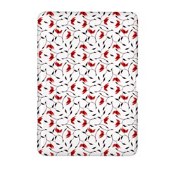 Delicate Red Flower Pattern Samsung Galaxy Tab 2 (10.1 ) P5100 Hardshell Case