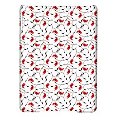 Delicate Red Flower Pattern Apple iPad Air Hardshell Case