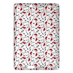 Delicate Red Flower Pattern Kindle Fire Hd 7  (2nd Gen) Hardshell Case