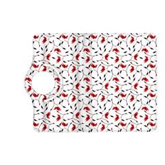 Delicate Red Flower Pattern Kindle Fire Hd 7  (2nd Gen) Flip 360 Case