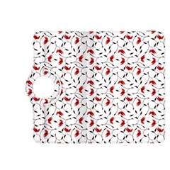 Delicate Red Flower Pattern Kindle Fire Hdx 8 9  Flip 360 Case