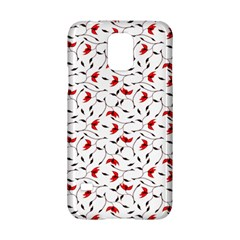 Delicate Red Flower Pattern Samsung Galaxy S5 Hardshell Case