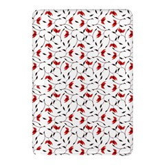Delicate Red Flower Pattern Samsung Galaxy Tab Pro 10.1 Hardshell Case