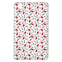 Delicate Red Flower Pattern Samsung Galaxy Tab Pro 8 4 Hardshell Case