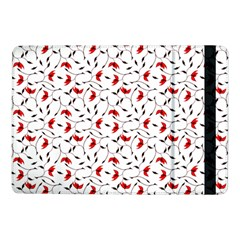 Delicate Red Flower Pattern Samsung Galaxy Tab Pro 10 1  Flip Case