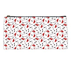 Delicate Red Flower Pattern Pencil Case