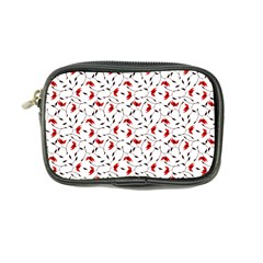 Delicate Red Flower Pattern Coin Purse