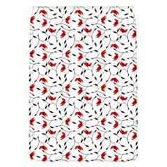 Delicate Red Flower Pattern Removable Flap Cover (large)