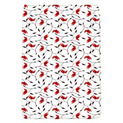 Delicate Red Flower Pattern Removable Flap Cover (small)