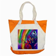 Rainbow Moon Accent Tote Bag