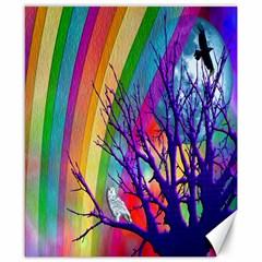 Rainbow Moon Canvas 8  x 10  (Unframed)