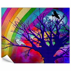 Rainbow Moon Canvas 11  X 14  (unframed)