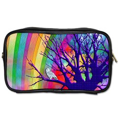 Rainbow Moon Travel Toiletry Bag (Two Sides)