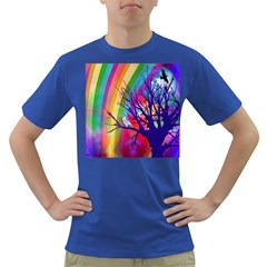 Rainbow Moon Men s T Shirt (colored)