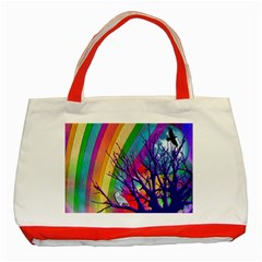 Rainbow Moon Classic Tote Bag (Red)