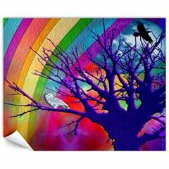 Rainbow Moon Canvas 16  x 20  (Unframed)