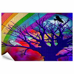 Rainbow Moon Canvas 20  x 30  (Unframed)