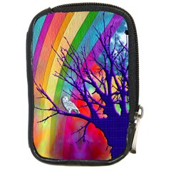 Rainbow Moon Compact Camera Leather Case