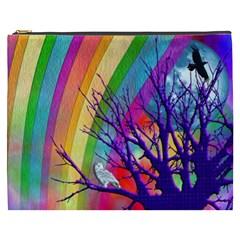 Rainbow Moon Cosmetic Bag (XXXL)