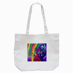 Rainbow Moon Tote Bag (White)
