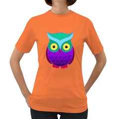 Groovy Owl Women s T-shirt (Colored)