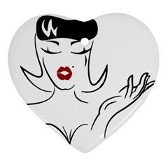 Pin Up Heart Ornament
