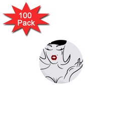 Pin Up 1  Mini Button (100 pack)