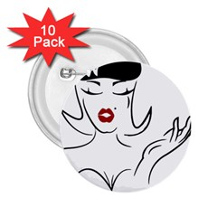 Pin Up 2.25  Button (10 pack)