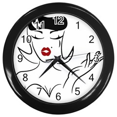 Pin Up Wall Clock (Black)
